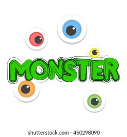 monster inscription, eyes