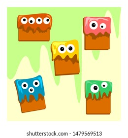 monster snack cute pack concept