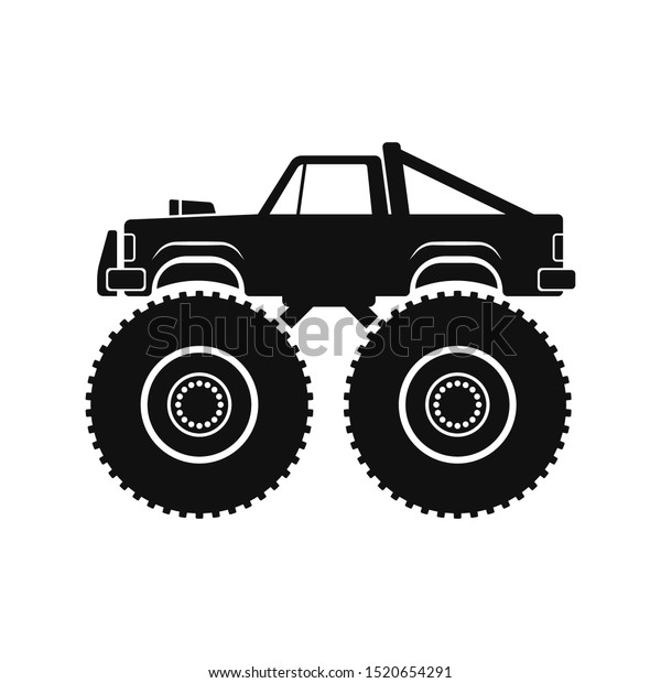 Monster Truck Icon Offroad Jeep Car Stock Vector Royalty Free 1520654291