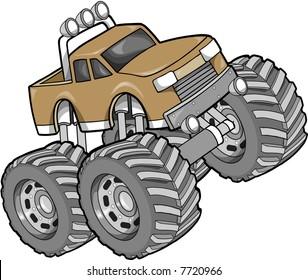 Monster Truck Vector Illustration