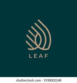 monstera deliciosa deliciousa leaf line art logo vector icon illustration