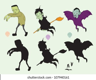 Monsters and Their Silhouettes