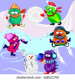 Monsters. Winter Sports