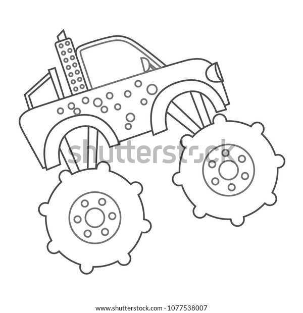 Lovely Monster Truck Outline Drawing - cool wallpaper