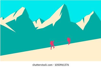 Montain background vector illustrationn