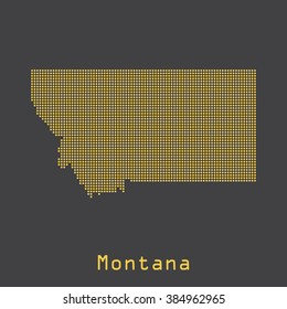 Montana abstract dots map. Dotted style. Vector illustration EPS8