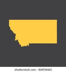 Montana border,map. Vector illustration EPS8.