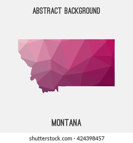 Montana map in geometric polygonal style.Abstract tessellation,modern design background. Vector illustration EPS8