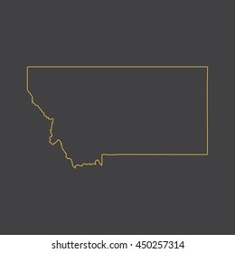 Montana map,outline,stroke,line style