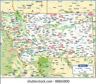 montana map Images, Stock Photos & Vectors | Shutterstock
