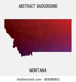 Montana state map in geometric polygonal style.Abstract tessellation,modern design background. Vector illustration EPS8