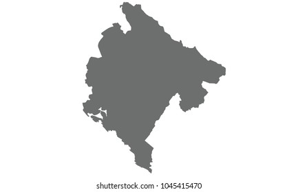 Montenegro map gray color
