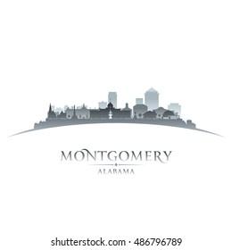 Montgomery Alabama city skyline silhouette. Vector illustration