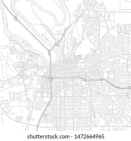 Montgomery, Alabama, USA, bright outlined vector map with bigger and minor roads and steets created for infographic backgrounds.