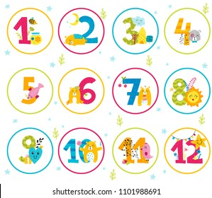 photograph about Baby Month Stickers Printable named Thirty day period Stickers Pictures, Inventory Visuals Vectors Shutterstock