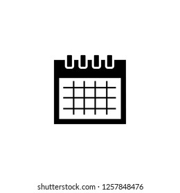 monthly calendar icon vector. monthly calendar vector graphic illustration