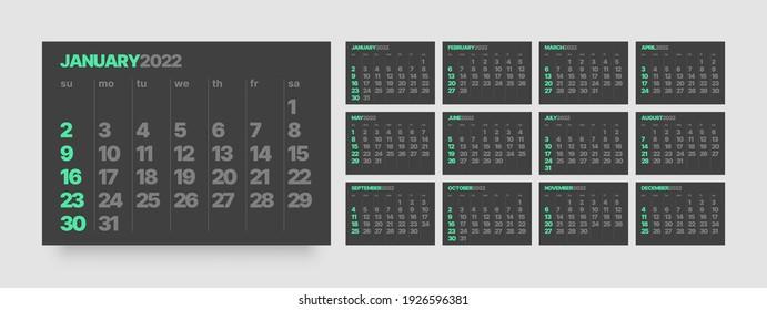 Free Desktop Calendar 2022.Desktop Calendar Design Images Stock Photos Vectors Shutterstock
