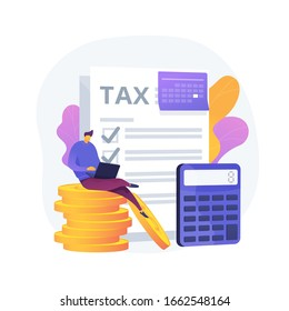 Monthly expense planning. Reminder for appointment. Payment deadline, worker with timetable, organizer schedule. Countdown to payday. Vector isolated concept metaphor illustration.