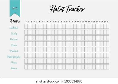 habit tracker template