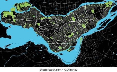 Montreal black and white map