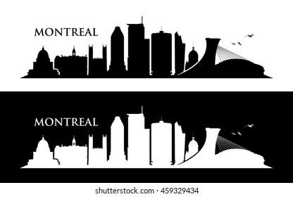 Montreal skyline - vector illustration