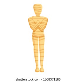 Monument mummy icon. Cartoon of monument mummy vector icon for web design isolated on white background