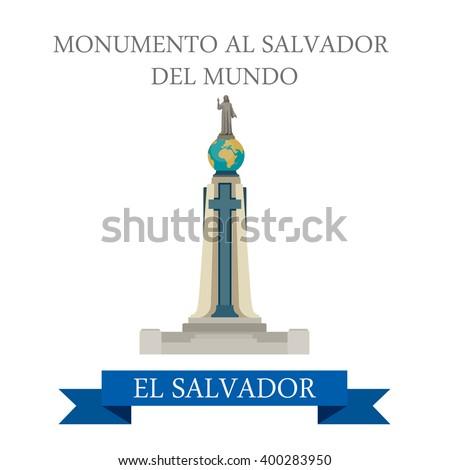 monumento al salvador del mundo el stock vector royalty free