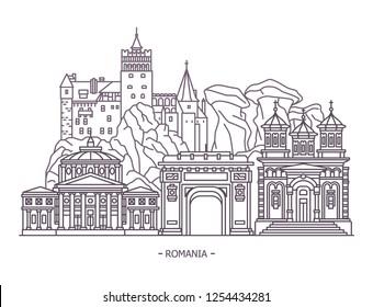 Monuments or Romania landmarks