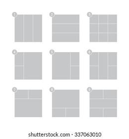 Mood board vector templates