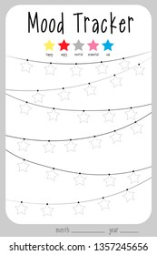 image regarding Printable Mood Tracker referred to as Temper Tracker Pics, Inventory Visuals Vectors Shutterstock