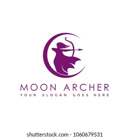 Moon Archer Logo for Archery Company or Artemis Law firm
