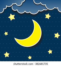 Similar Images, Stock Photos & Vectors of Cartoon Star Moon Wishing