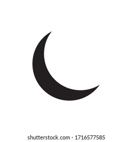 moon black flat icon. Sign sun and moon. Vector logo for web design, Vector illustration eps10. Isolated on white background