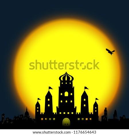 Moon castle full moon