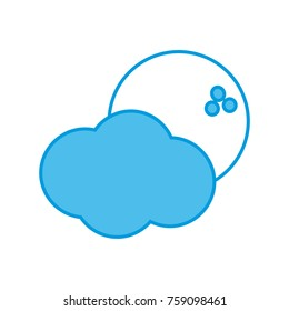 Moon and clouds icon vector illustration graphic design
