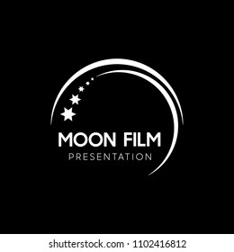 Moon Film logo vector illustration.