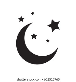 crescent moon vector images stock photos vectors shutterstock https www shutterstock com image vector moon icon 602513765