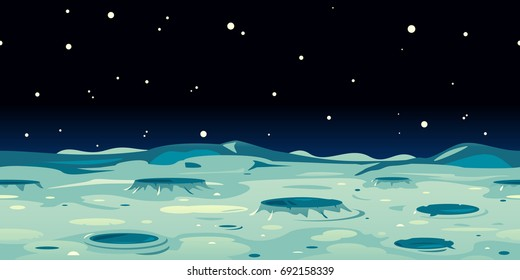 Moon Landscape Background