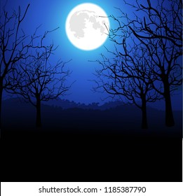 moon light background.,attracive image of backgrounds night sky  full moon ,.