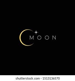 Moon logo modern elegant and strong