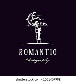 Moon Night Romeo Juliet Romance Scene Film Photography illustration logo