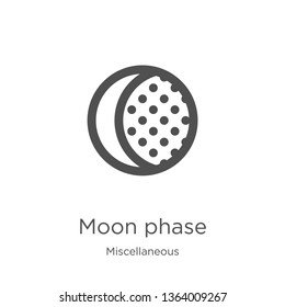 moon phase icon. Element of miscellaneous collection for mobile concept and web apps icon. Outline, thin line moon phase icon for website design and mobile, app development