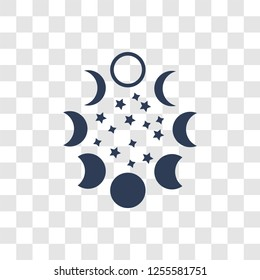 Moon phases icon. Trendy Moon phases logo concept on transparent background from Astronomy collection