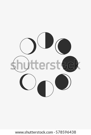 Moon Phases Icon Vector Stock Vector Royalty Free 578596438
