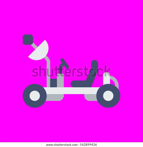 moon rover icon flat disign