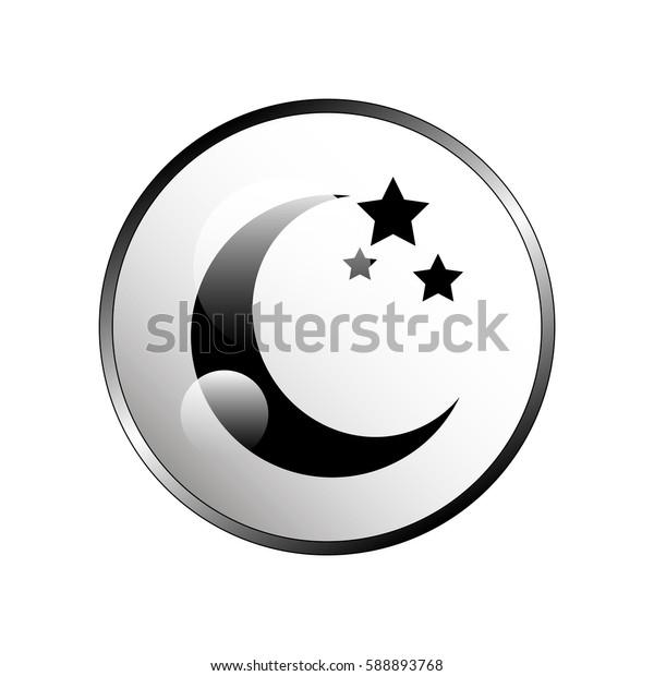 Moon star icon.