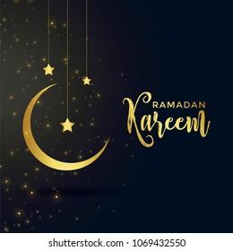 moon and star for islamic ramadan kareem season