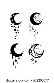Moon Tattoo Images Stock Photos Vectors Shutterstock