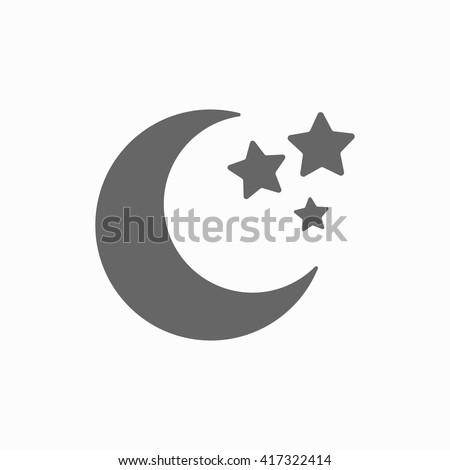 Moon Stars Closeup Moon Symbol Abstract Stock Vector Royalty Free