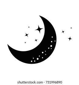 moon and stars night